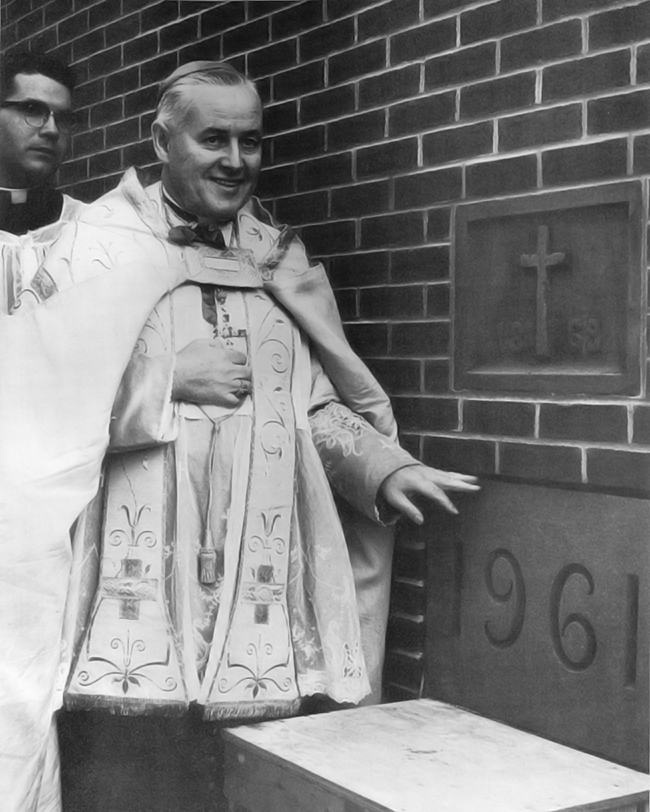 Cornerstone Laying for the New School - 1961