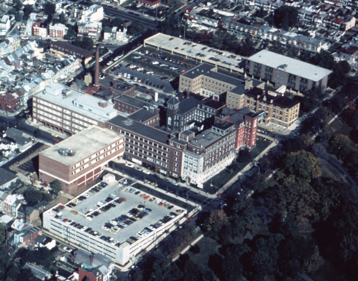 St. Joseph's Hospital - Aerial View, late 1980s