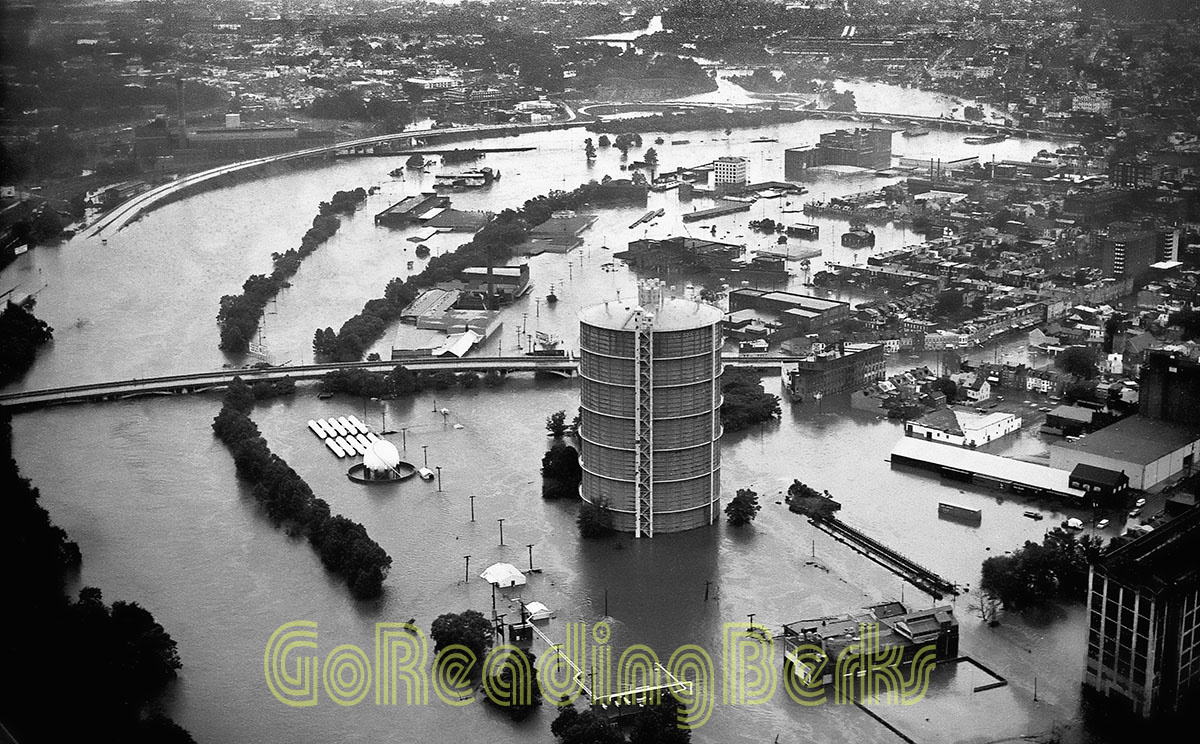 Hurricane Agnes caused extreme damage and loss to Berks County when it hit June, 22nd 1972. In Reading, the Schuylkill River reached a record flood of 31.5 feet.