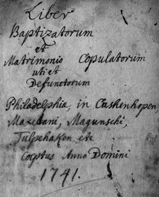 Father Schneider's sacramental register