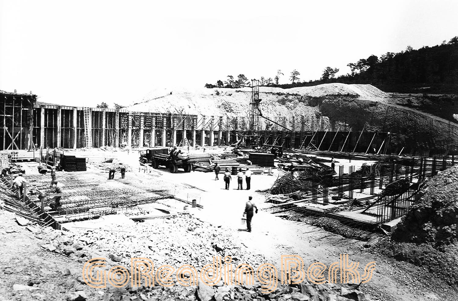 Construction of the Neversink Reservoir in 1936.