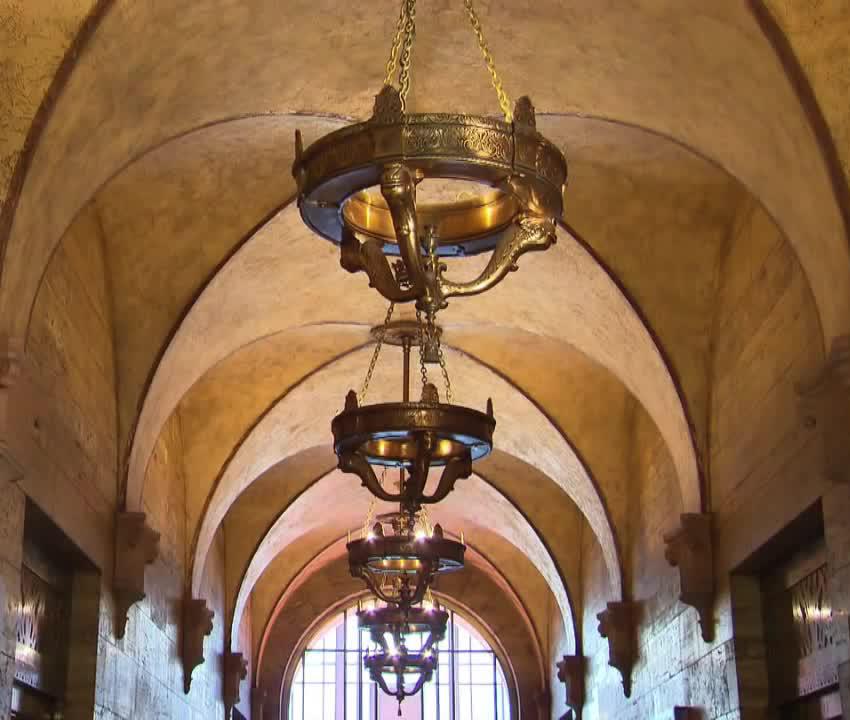 Main Corridor Vaulted Ceiling