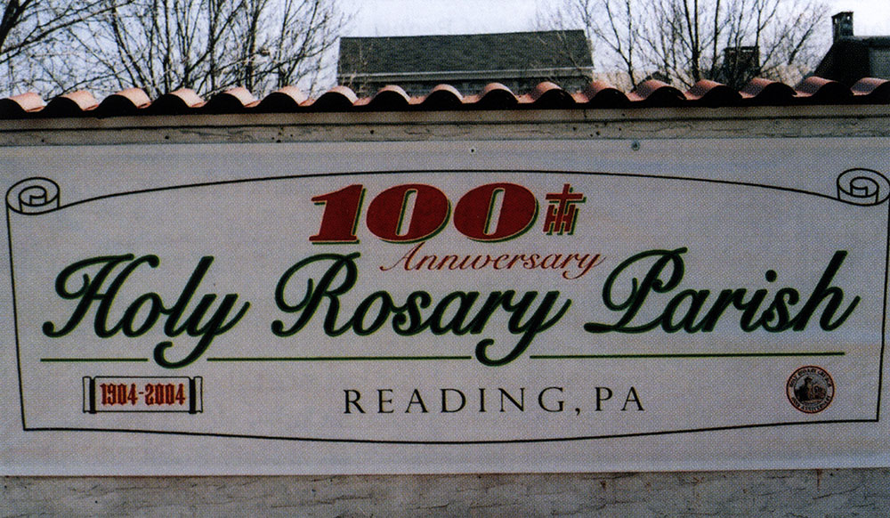 Holy Rosary Centennial Banner, 2004