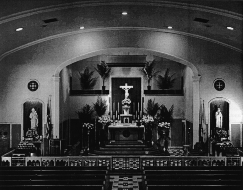 Sanctuary of the New Church of Holy Rosary, 1953