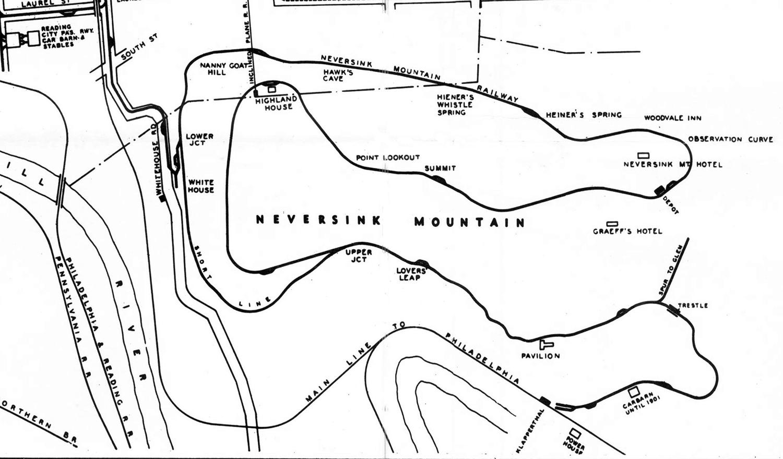 Neversink Mountain Railway Map