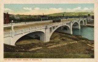 Penn Street old iron truss bridge looking northeast