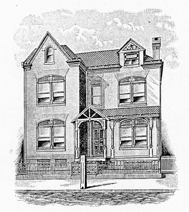 Sketch of Original Rectory