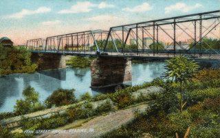 Penn Street old iron truss bridge looking southeast