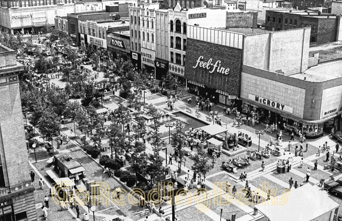 Penn Square Pedestrian Mall, 1977