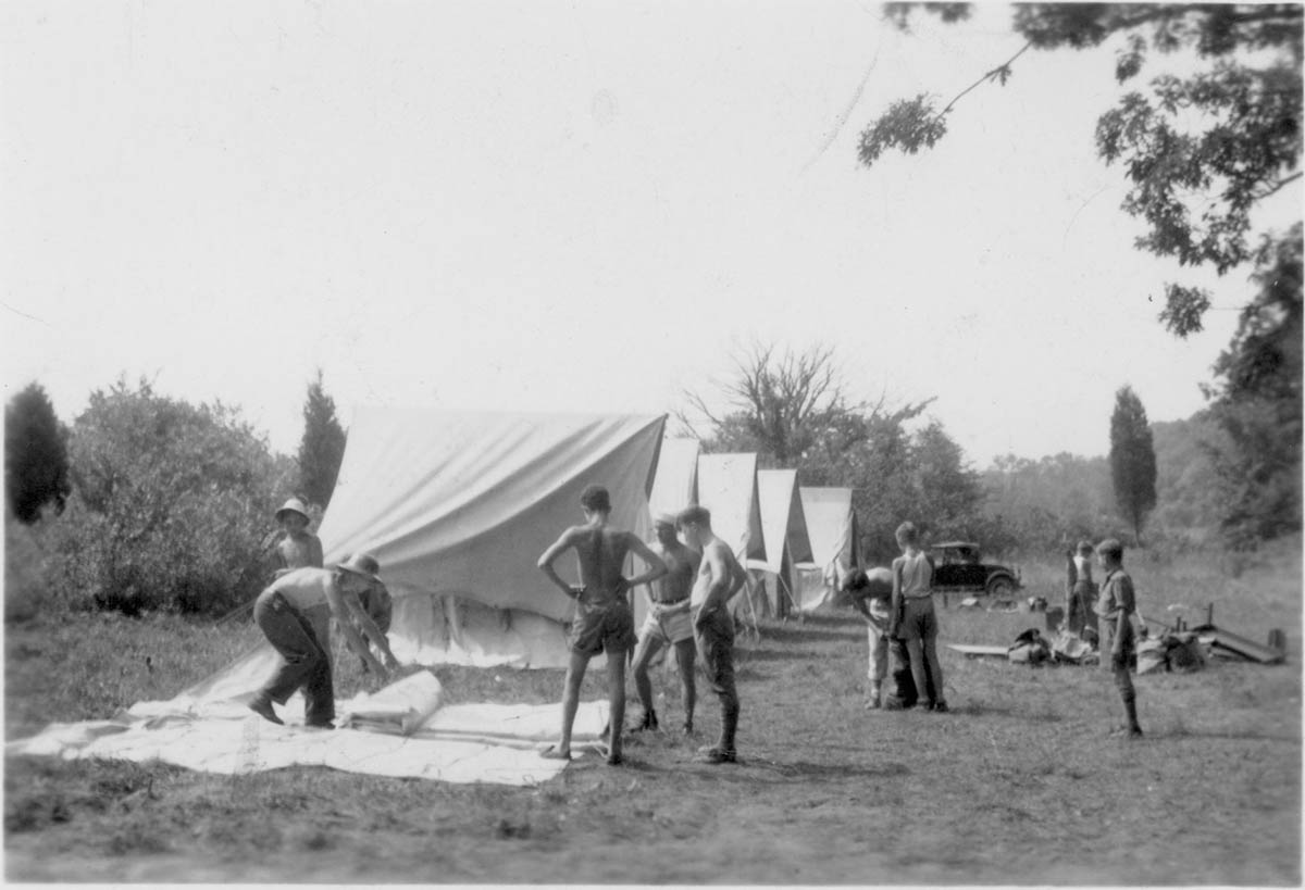 Camping at Pine Forge, 1937
