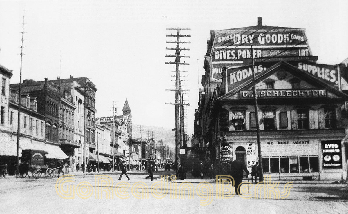 Looking east from Sixth and Penn Sixth in 1899