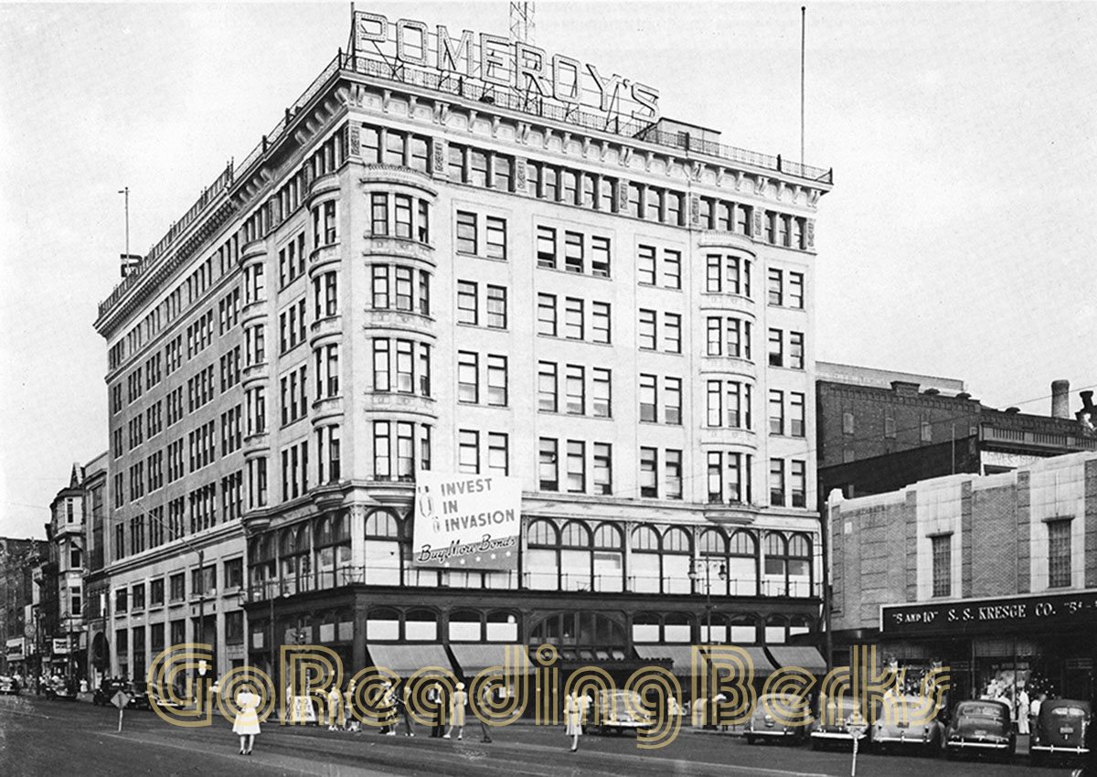 Southeast corner of Sixth and Penn in the 1940s