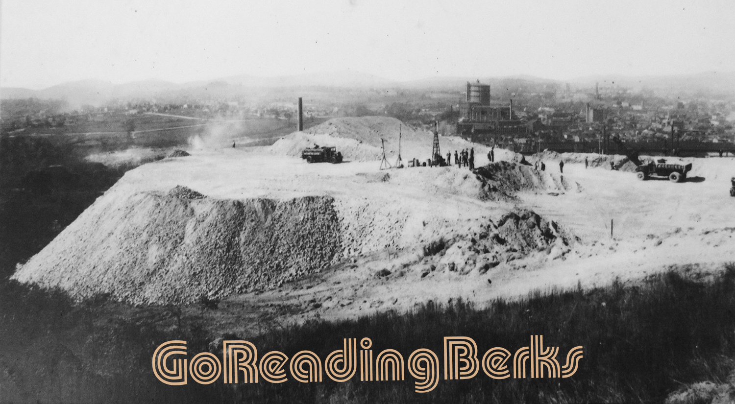 Preparing site for reservoir, 1935.