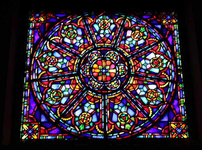 One of Two Rose Windows in Choir Loft