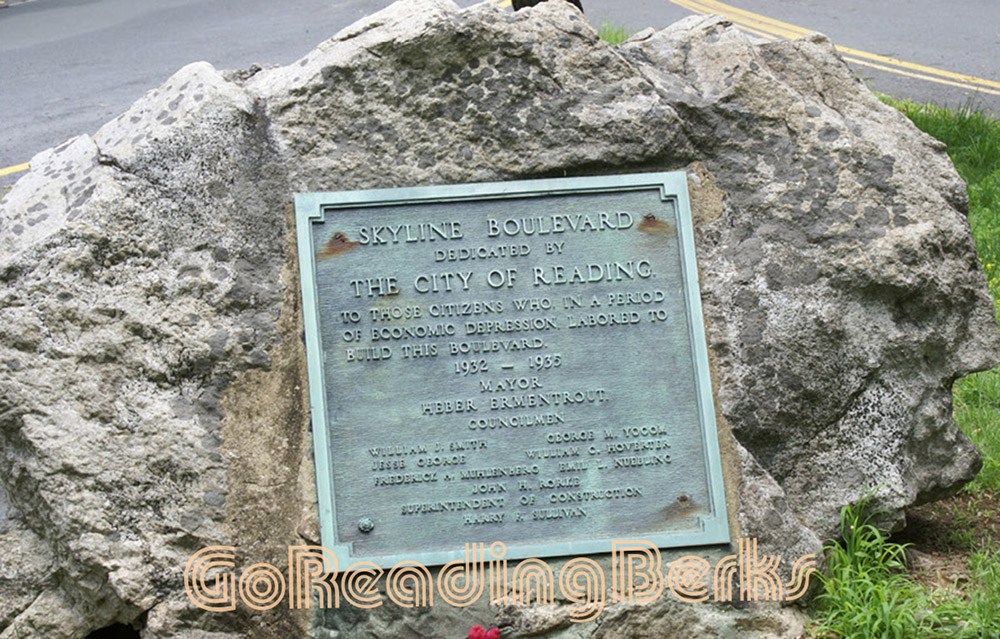 Dedication plaque for Skyline Drive