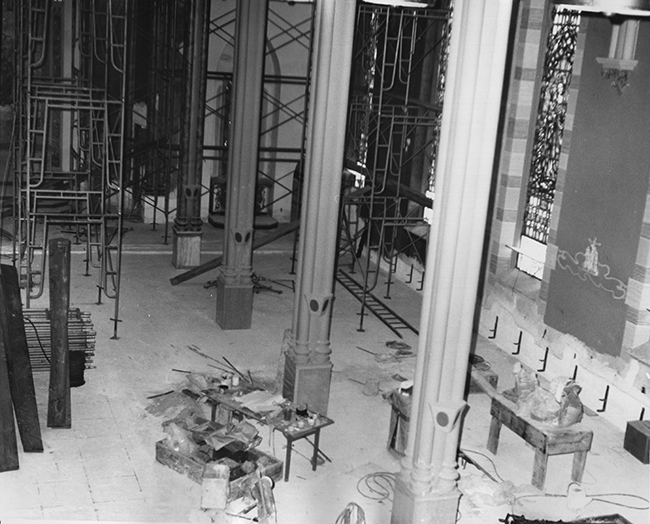 Interior of Church during Renovations