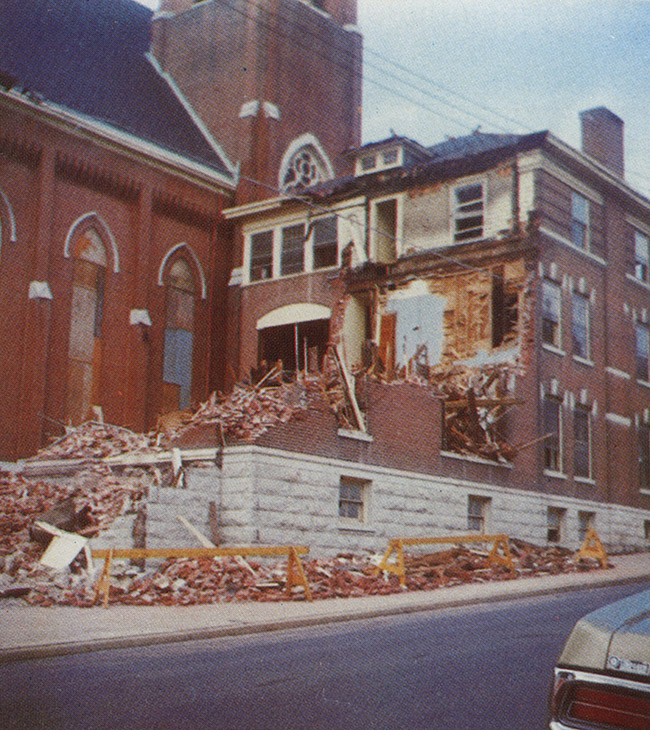 Demolition of St. Mary's Rectory