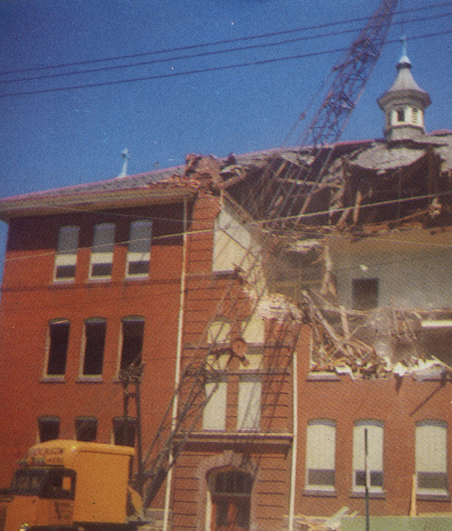 Demolition of Original St. Mary's School