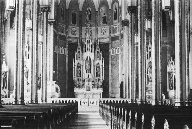 St. Mary's after the 1938 remodeling