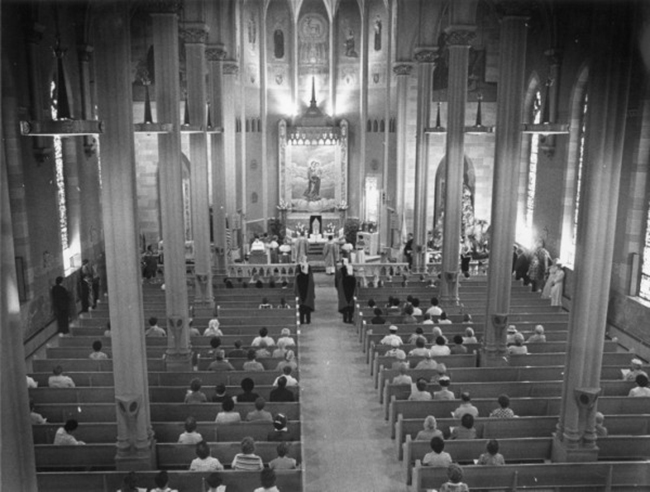 Interior of Church after 1963 Renovations