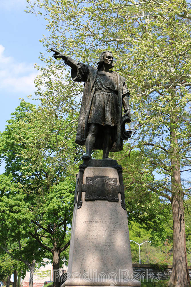 Christopher Columbus Monument, Reading City Park