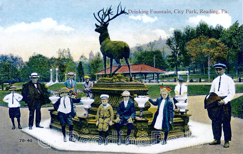 City Park Deer Fountain