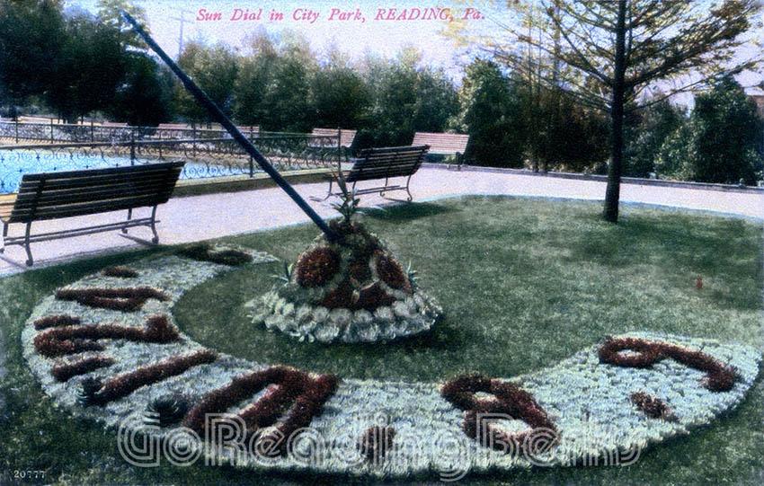 City Park Floral Sun-Dial