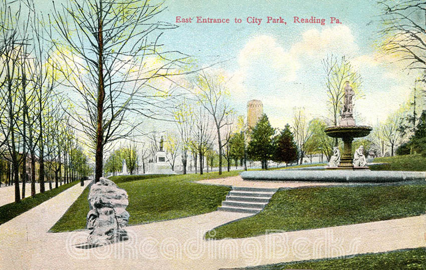East Entrance to City Park, Reading, PA