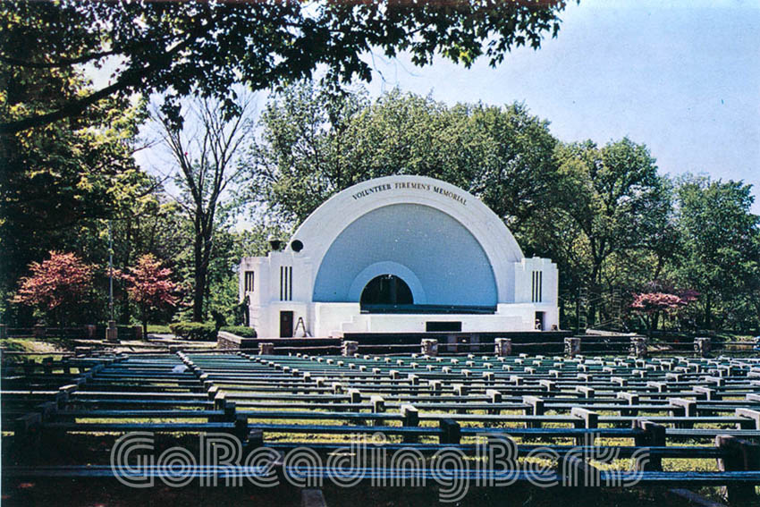 Fireman's Memorial Bandshell in City Park, Reading, PA
