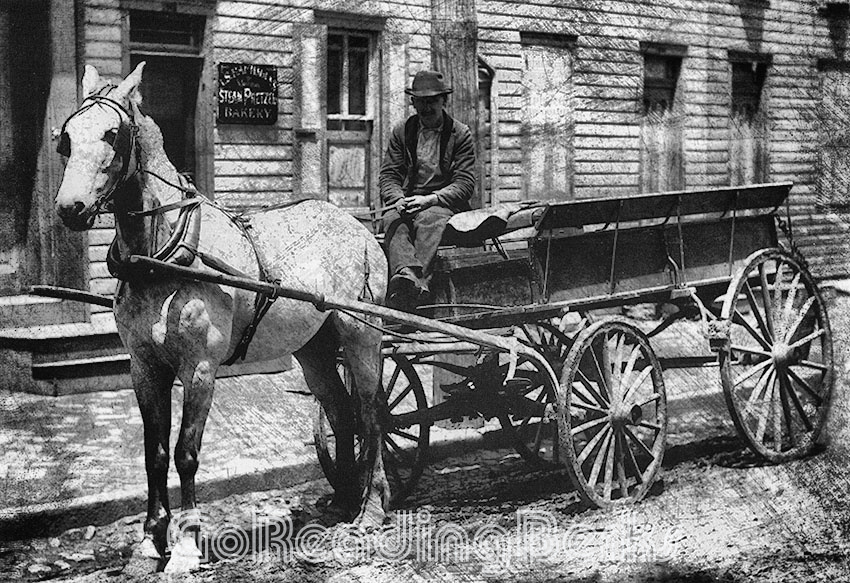 man Pretzel Co. Horse-Drawn Wagon