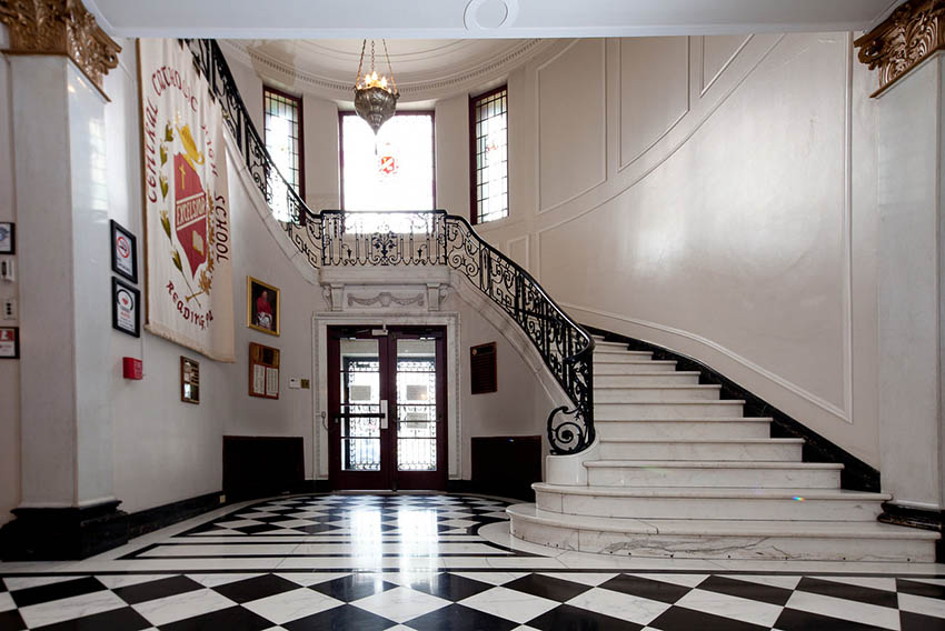Central Catholic High School Marble Staircase