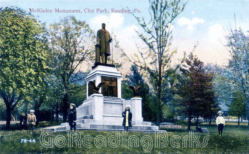 McKinley Monument, Reading City Park
