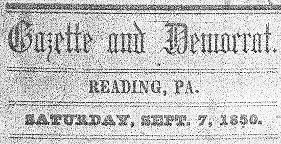 Reading Gazette and Democrat