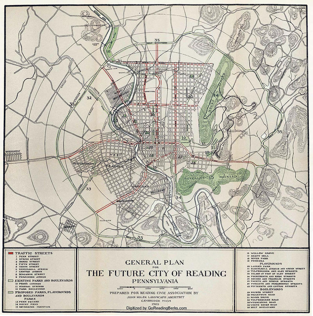 General Plan for The Future City of Reading Pennsylvania