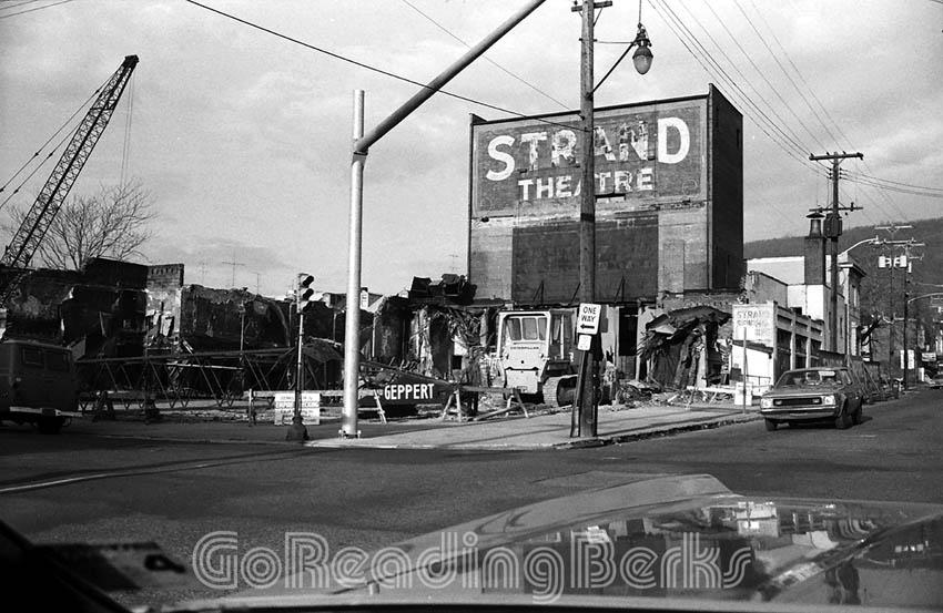 Strand Theater Demolition, 1975