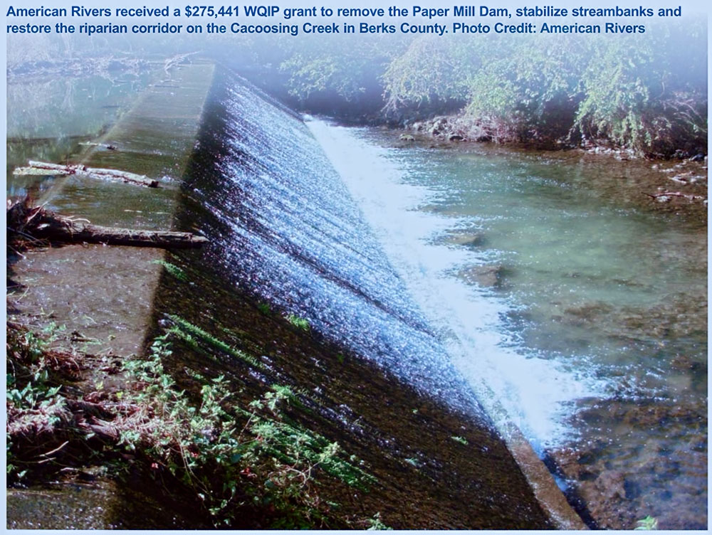 Paper Mill Dam Removal on Cacoosing Creek in Berks County