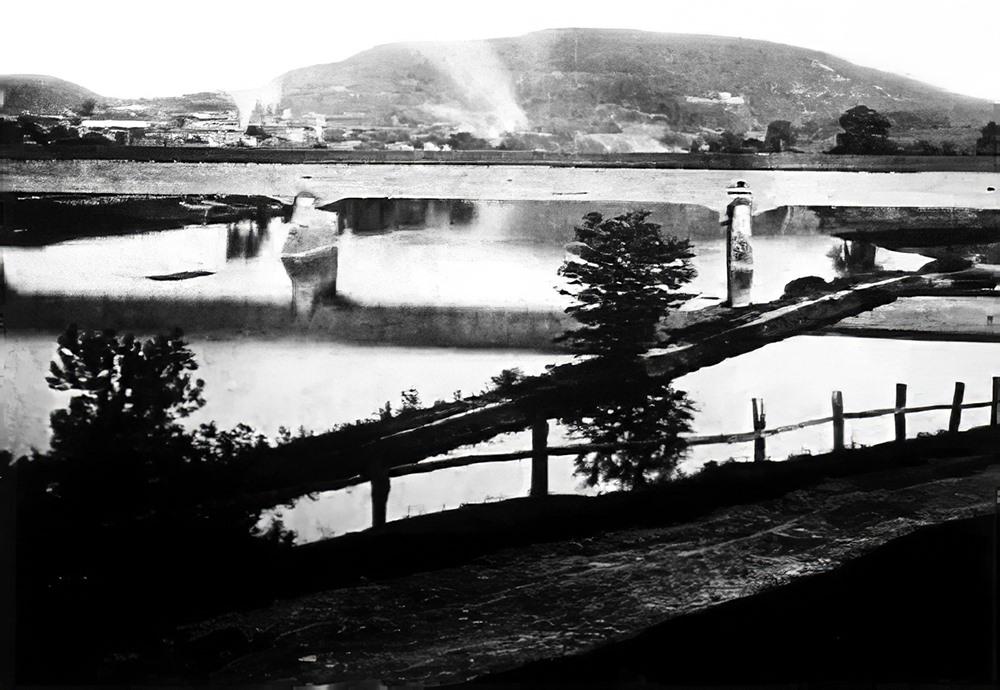 Old covered Lancaster Ave. bridge
